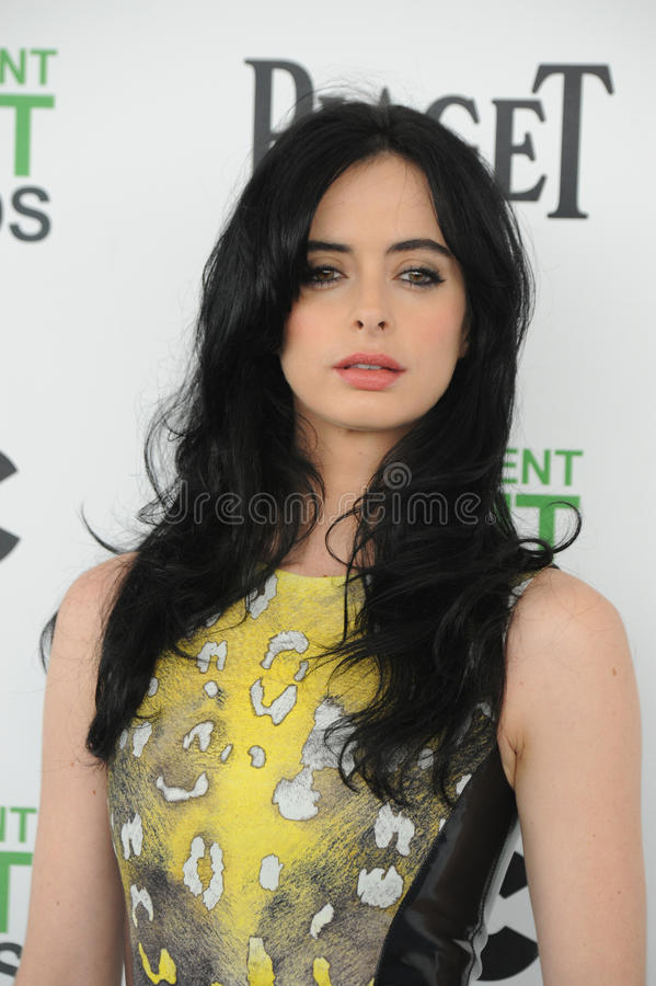 Kristen Ritter. SANTA MONICA, CA - MARCH 1, 2014: Kristen Ritter at the 2014 Film Independent Spirit Awards on the beach in Santa Monica, CA royalty free stock image