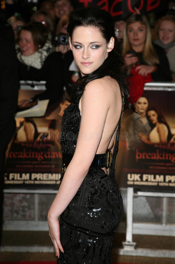 Kristen Stewart. Arriving for the UK premiere of The Twilight Saga: Breaking Dawn Part 1 at Westfield Stratford City, London. 17/11/2011 Picture by: Alexandra royalty free stock image