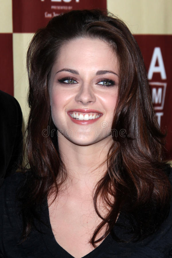 Kristen Stewart. LOS ANGELES - JUN 21: Kristen Stewart arriving at A Better Life World Premiere Gala Screening t the 2011 Los Angeles Film Festival at Regal royalty free stock images