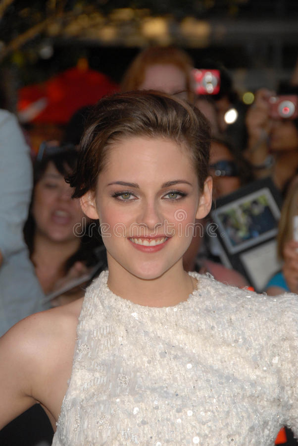 Kristen Stewart. At The Twilight Saga: Eclipse Los Angeles Premiere, L.A. Live, Los Angeles, CA. 06-24-10 royalty free stock image