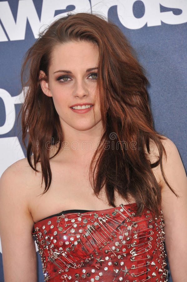Kristen Stewart. Arrives at the 2011 MTV Movie Awards at the Gibson Amphitheatre, Universal Studios, Hollywood. June 5, 2011 Los Angeles, CA Picture: Paul Smith royalty free stock photography