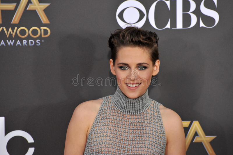 Kristen Stewart. LOS ANGELES, CA - NOVEMBER 14, 2014: Kristen Stewart at the 2014 Hollywood Film Awards at the Hollywood Palladium royalty free stock image