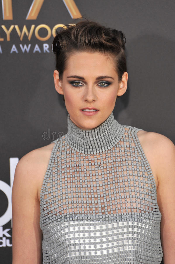 Kristen Stewart. LOS ANGELES, CA - NOVEMBER 14, 2014: Kristen Stewart at the 2014 Hollywood Film Awards at the Hollywood Palladium stock image