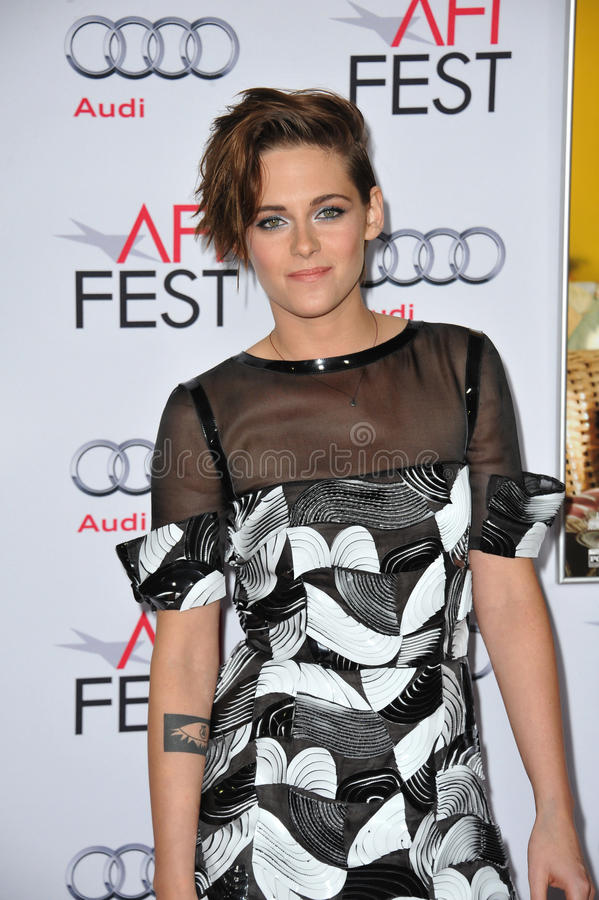 Kristen Stewart. LOS ANGELES, CA - NOVEMBER 12, 2014: Kristen Stewart at the premiere of her movie Still Alice as part of the AFI FEST 2014 at the Dolby Theatre stock images