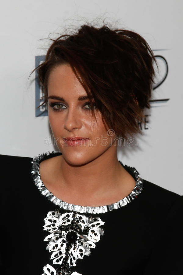 Kristen Stewart. NEW YORK-OCT 08: Actress Kristen Stewart attends the premiere of Clouds of Sils Maria at the 52nd New York Film Festival at Alice Tully Hall on stock photography