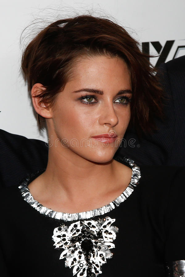 Kristen Stewart. NEW YORK-OCT 08: Actress Kristen Stewart attends the premiere of Clouds of Sils Maria at the 52nd New York Film Festival at Alice Tully Hall on stock images