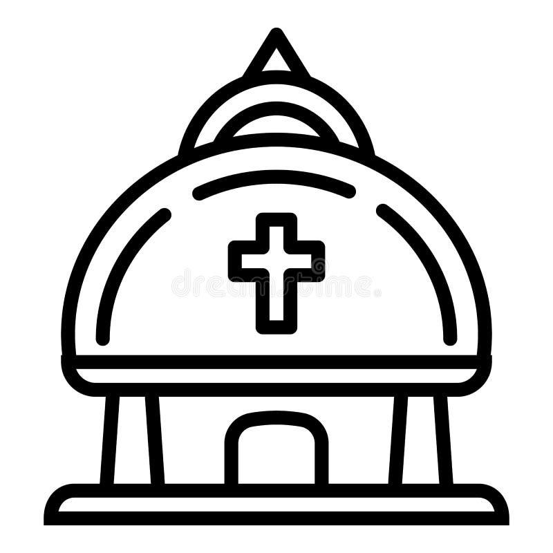 Kristen tempelsymbol, ?versiktsstil stock illustrationer