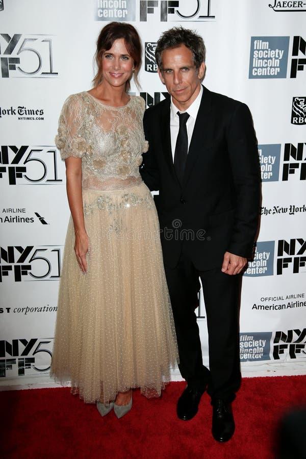Kristen Wiig, Ben Stiller fotografia stock