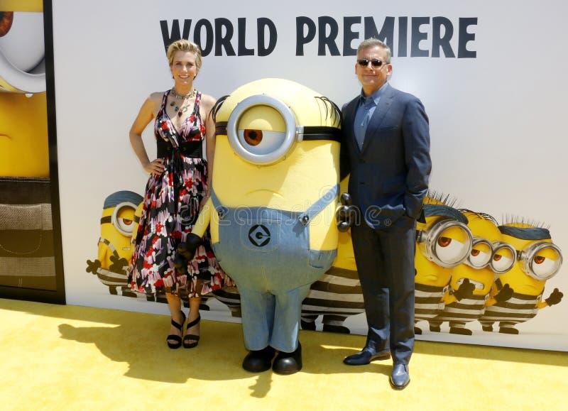 Kristen Wiig et Steve Carell photo stock