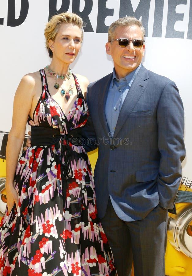 Kristen Wiig et Steve Carell images stock