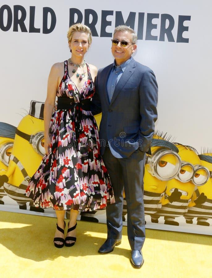Kristen Wiig et Steve Carell photographie stock libre de droits
