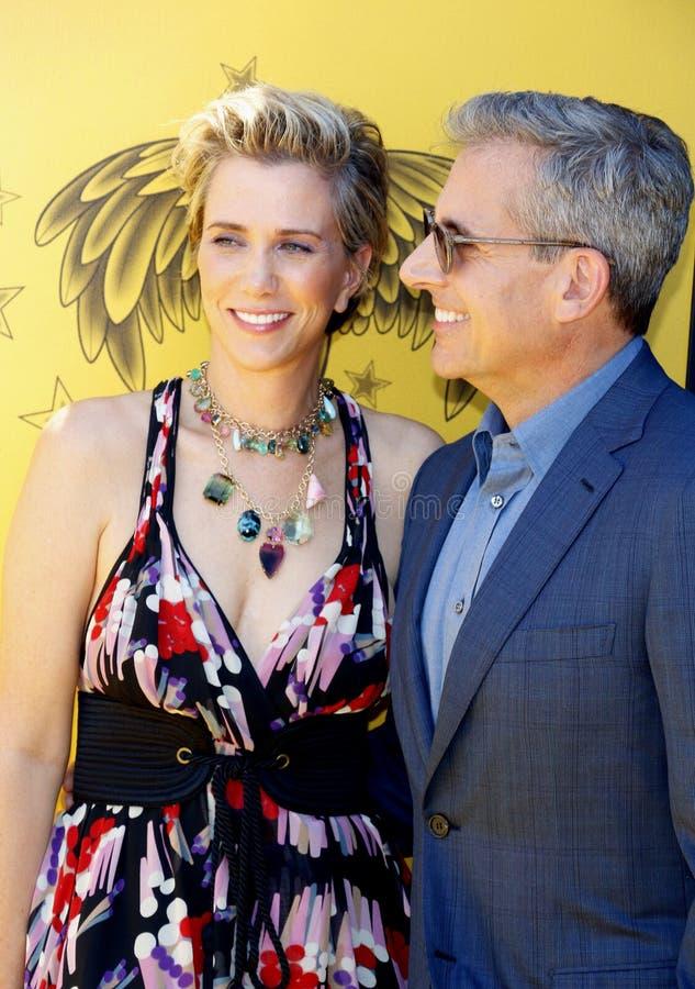 Kristen Wiig et Steve Carell image libre de droits