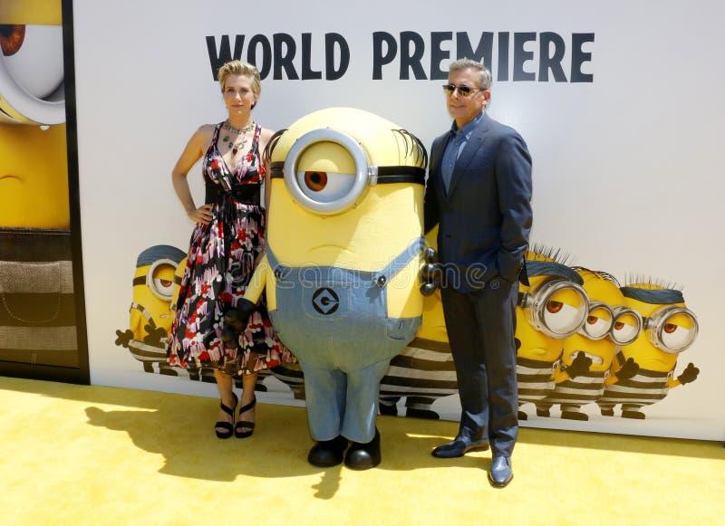 Kristen Wiig et Steve Carell image stock