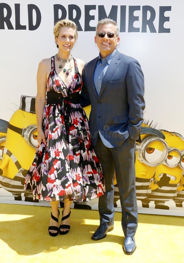 Kristen Wiig et Steve Carell photos stock