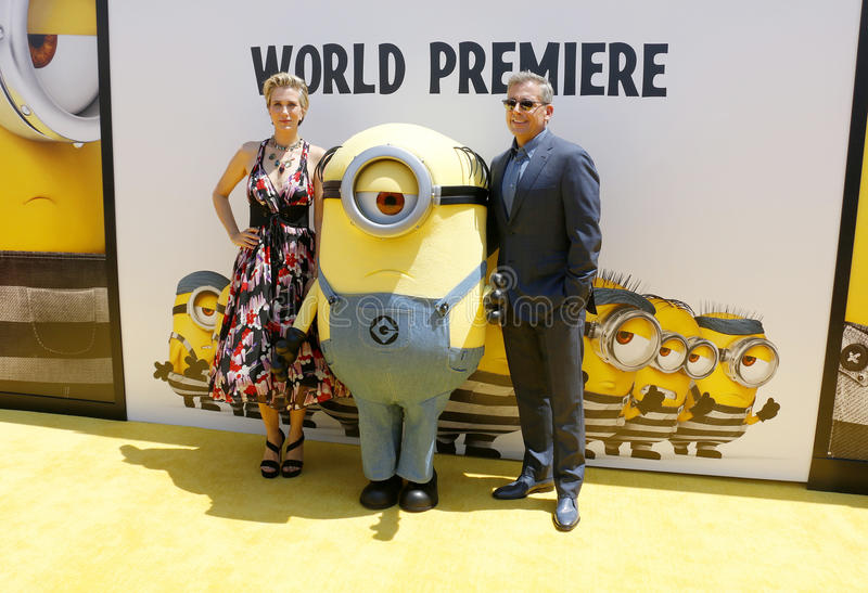 Kristen Wiig et Steve Carell images libres de droits