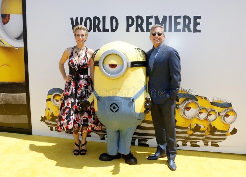 Kristen Wiig et Steve Carell photo libre de droits