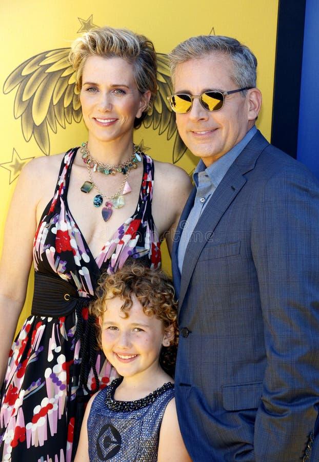 Kristen Wiig, Nev Scharrel, Steve Carell photo stock
