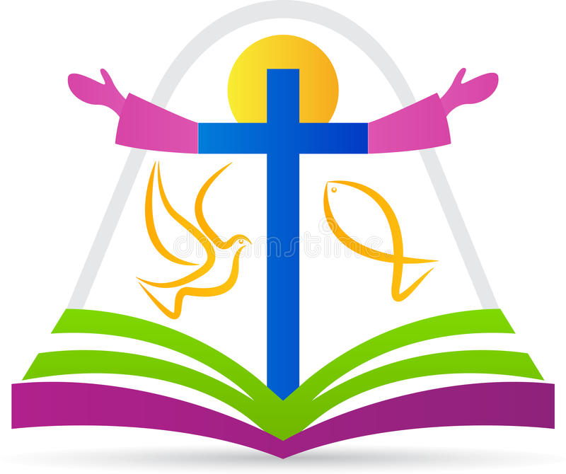 Kristendomenlogo vektor illustrationer