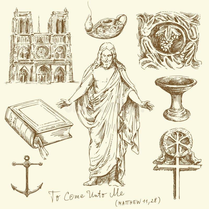 kristendomenreligion royaltyfri illustrationer