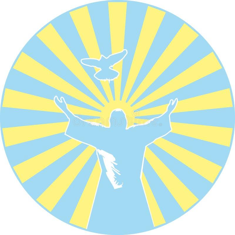 kristet symbol vektor illustrationer