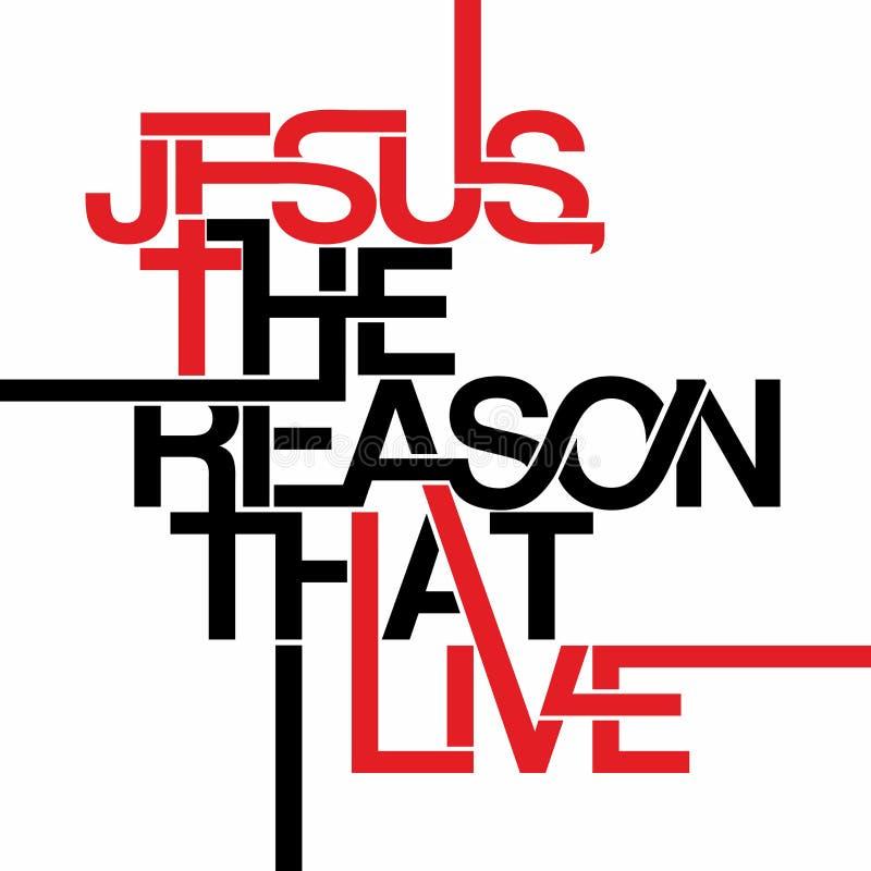 Kristet tryck Jesus anledningen som bor stock illustrationer