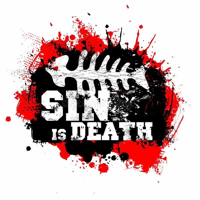 Kristet tryck Synden är död stock illustrationer