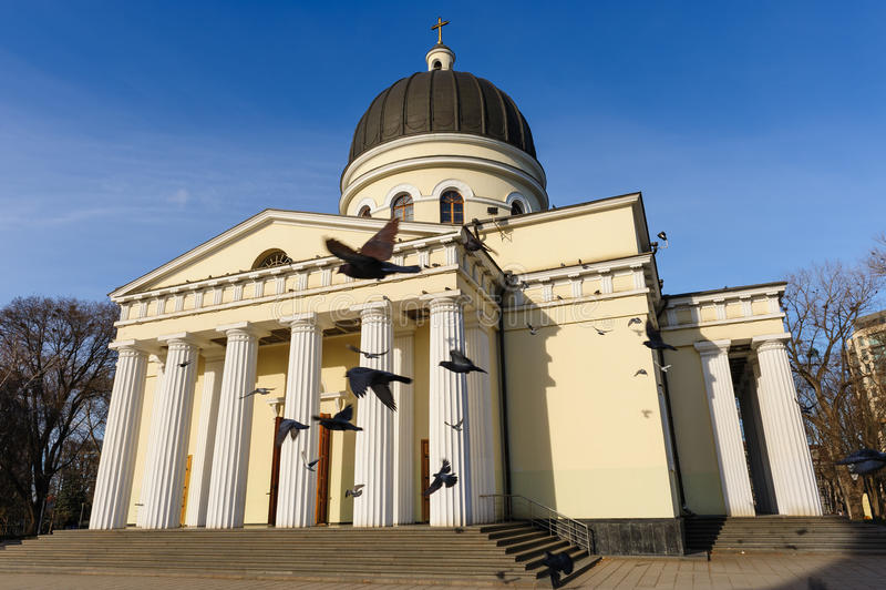 Kristi födelsedomkyrka i Chisinau, Moldavien royaltyfria foton