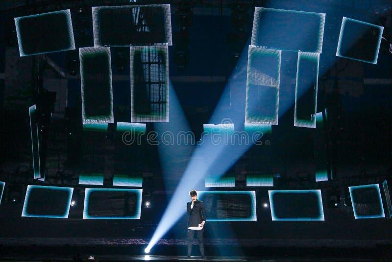 Kristian Kostov from Bulgaria Eurovision 2017 royalty free stock images