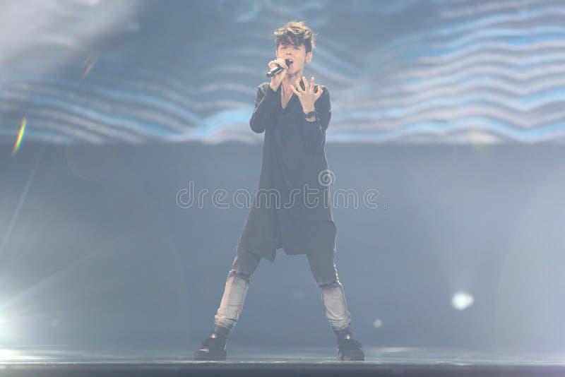 Kristian Kostov from Bulgaria Eurovision 2017 stock images