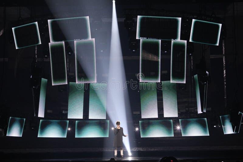 Kristian Kostov from Bulgaria Eurovision 2017 stock photo