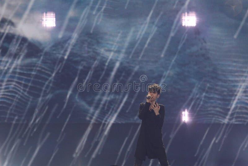 Kristian Kostov from Bulgaria Eurovision 2017 royalty free stock photo