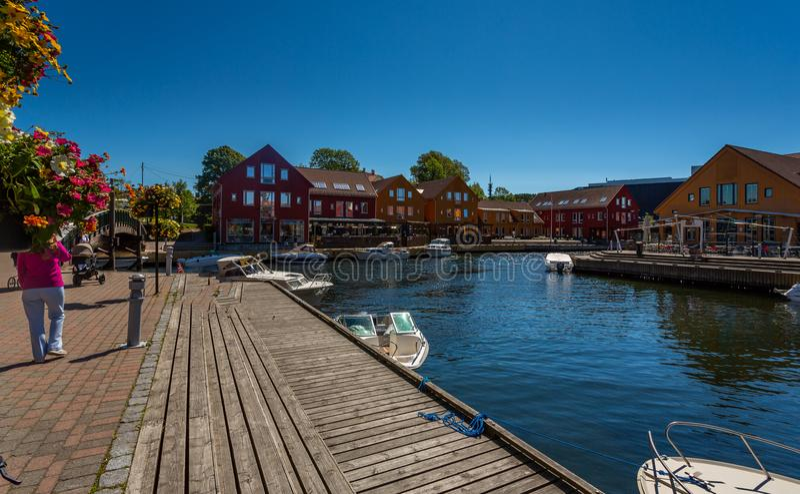 Kristiansand di estate fotografia stock libera da diritti