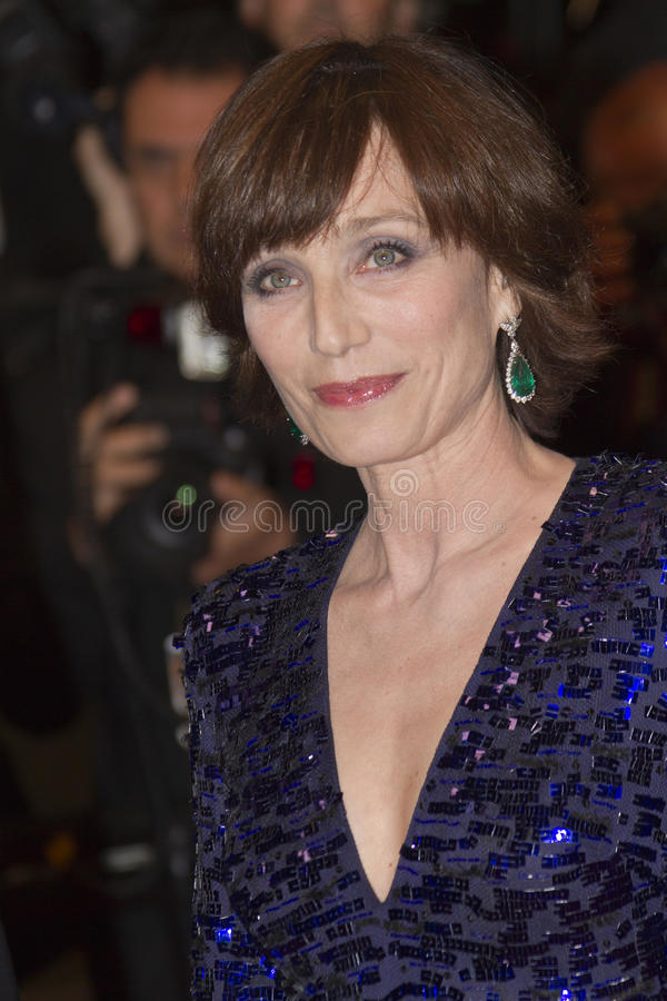 Kristin Scott Thomas royaltyfri bild