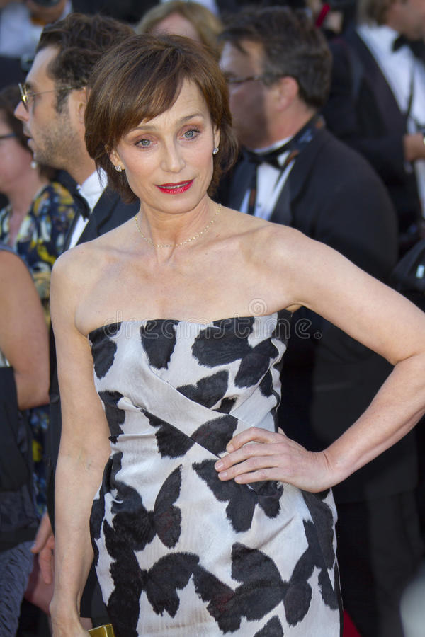 Kristin Scott Thomas royaltyfria foton
