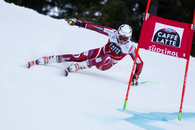 KRISTOFFERSEN Henrik en la taza Men's de Audi Fis Alpine Skiing World foto de archivo libre de regalías