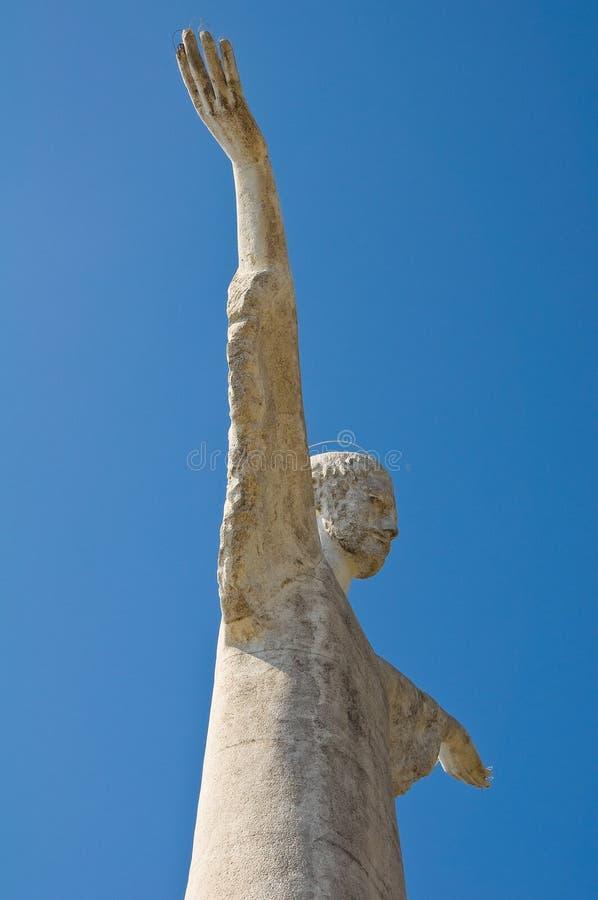 Kristus Förlossare av Maratea. Basilicata. Italien. royaltyfri fotografi