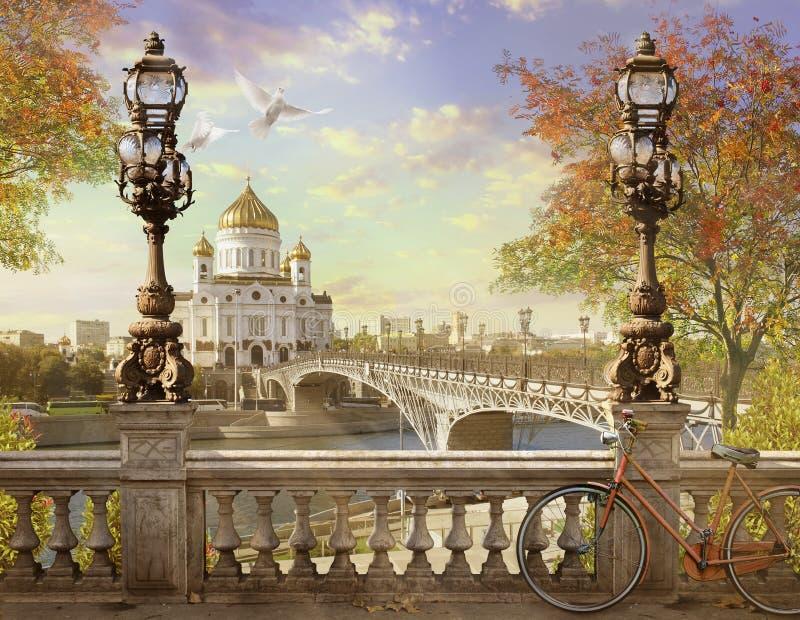 Kristus frälsaredomkyrkan, panoraman royaltyfria foton