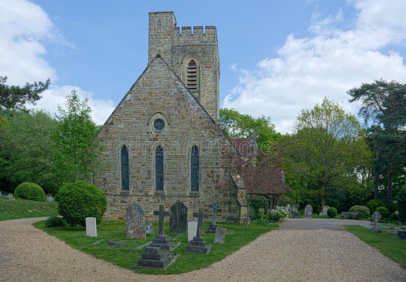 Kristuskyrka, Fairwarp, Sussex, UK arkivbilder