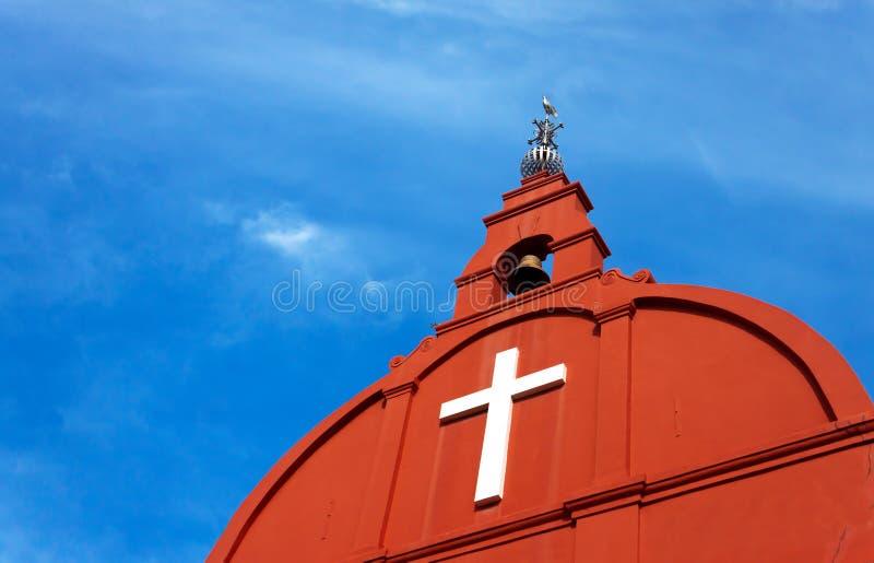 Kristuskyrka, Malacca, Malaysia arkivbild