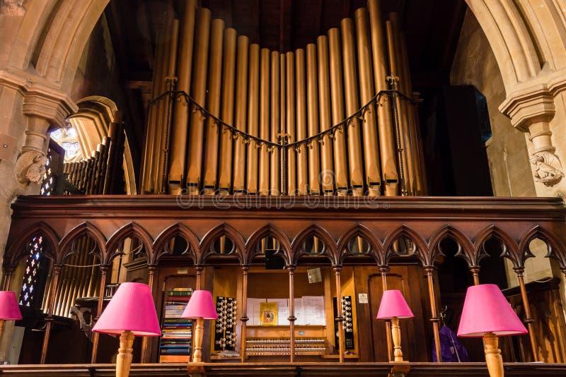 Kristuskyrka med helgonet Mary Organs arkivbilder
