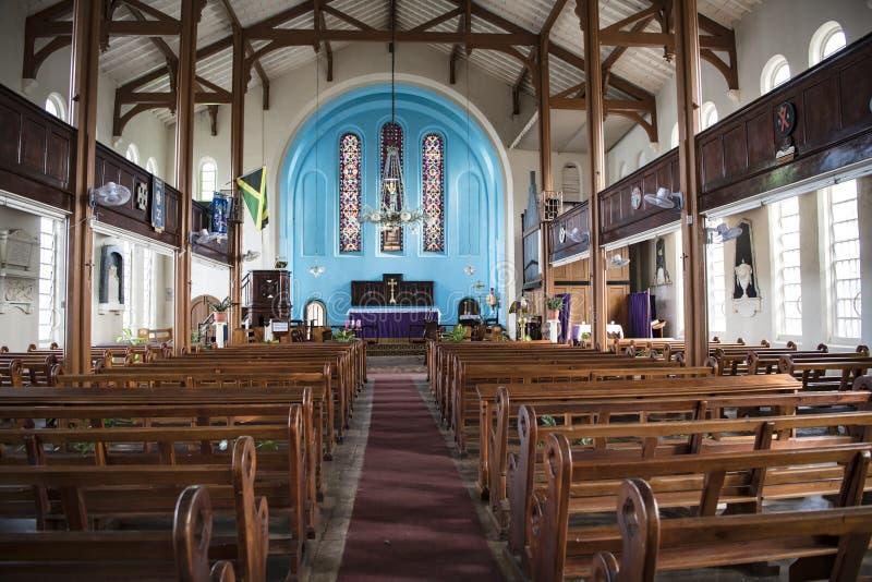 Kristuskyrka, port Antonio, Jamaica royaltyfri fotografi