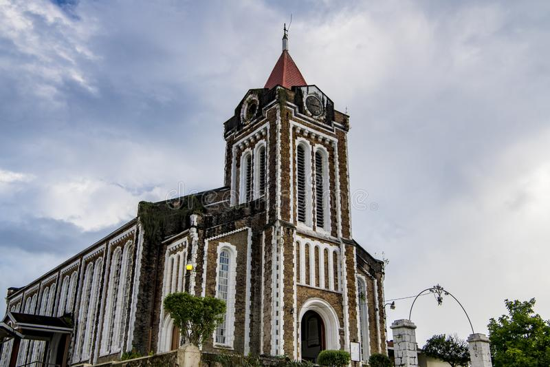 Kristuskyrka, port Antonio, Jamaica royaltyfri bild