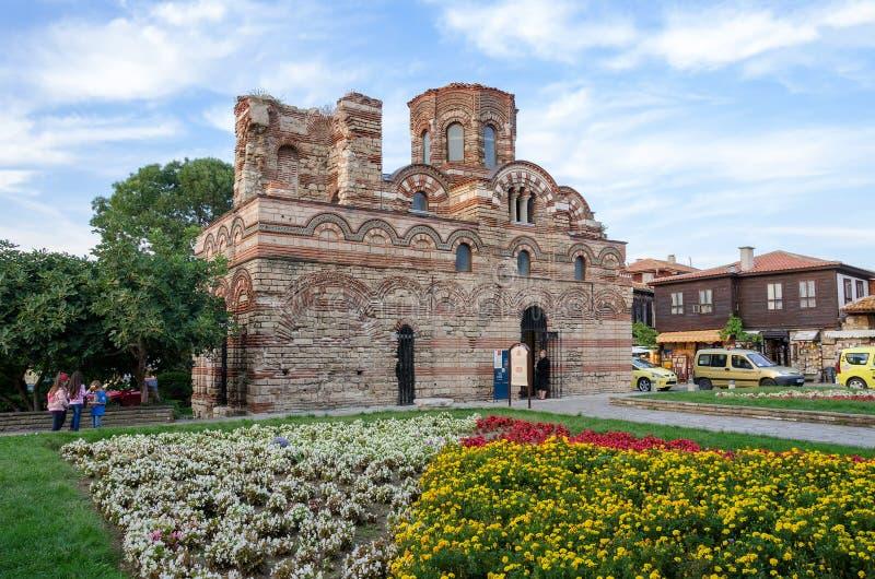 KristusPantocrator kyrka i gammal stad av Nesebar, Bulgarien royaltyfria foton
