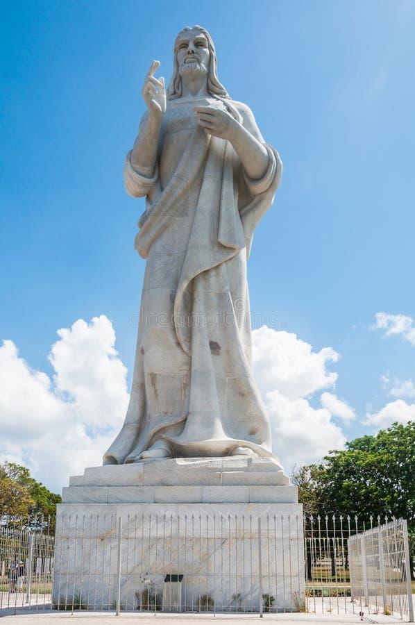 Kristusstaty i Casablanca, havannacigarr, Kuba arkivfoton