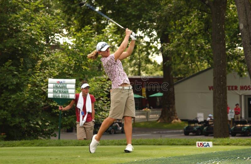 Kristy McPherson bij Open Vrouwen USGA stock afbeeldingen