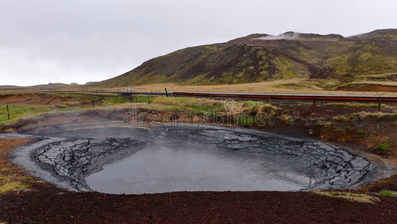 Krisuvik geotermiczny borowinowy basen w Iceland obraz royalty free