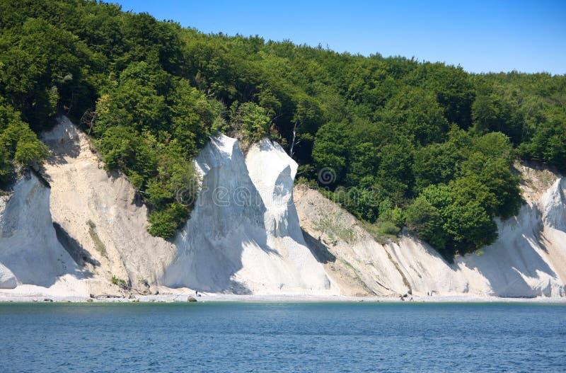 Krita-klippor Wissower Klinken arkivbild