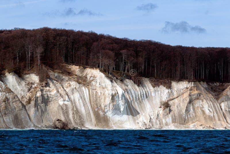 Kritaklippa på ön av Ruegen, Tyskland arkivfoto