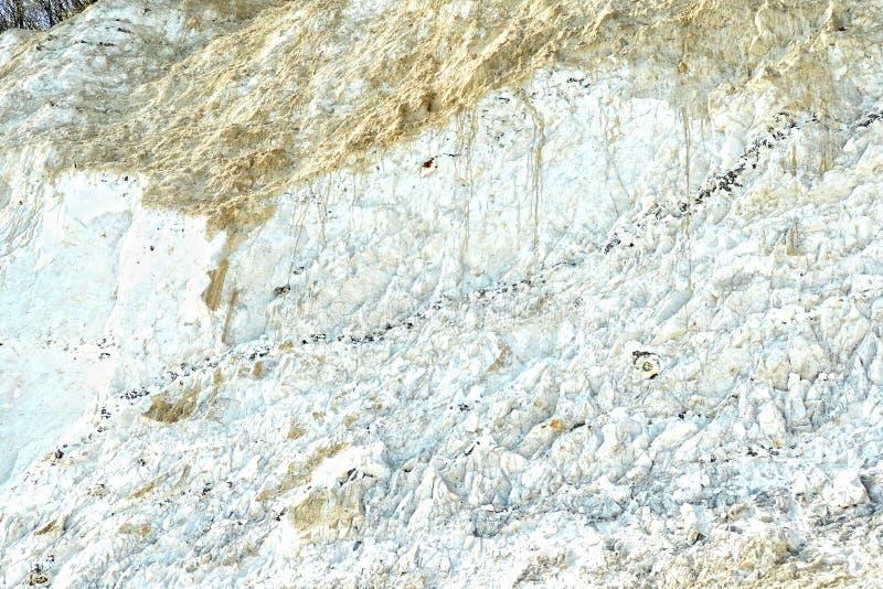 Kritaklippan vaggar av den Rugen ön på Sassnitz & x28; Germany& x29; arkivbild