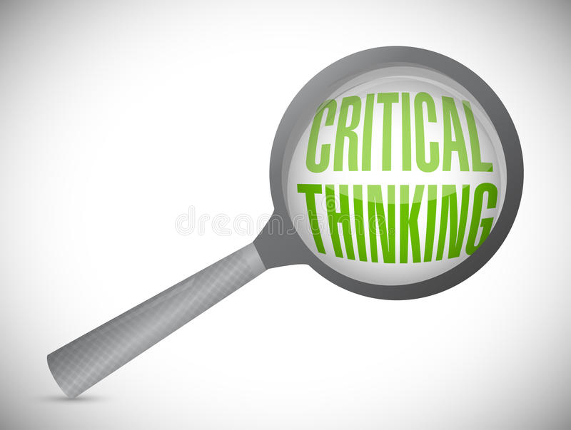kritiek het denken overzicht Overdrijf concept stock afbeelding